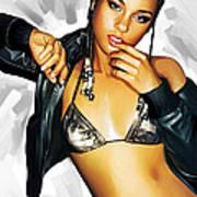 Alicia Keys Artwork 2 Art Print by Sheraz A