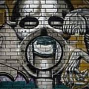 Alien Graffiti Art Print
