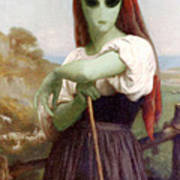 Alien Shepherdess Art Print