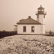 Alki Point Lighthouse Art Print