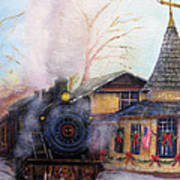 All Aboard At The New Hope Train Station Art Print