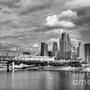 All American City 3 Bw Art Print