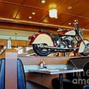 All American Diner 4 Print by Bob Christopher