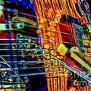 All Mixed Up Digital Guitar Art By Steven Langston Art Print