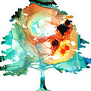 All Seasons Tree 1 - Colorful Landscape Print Print by Sharon Cummings