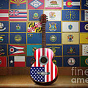 All State Flags Art Print by Bedros Awak
