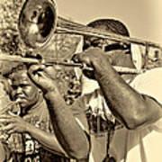 All That Jazz Sepia Art Print