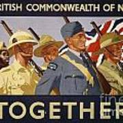 All The Commonwealth Countries Unite. Art Print