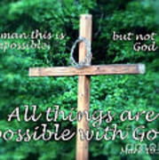 All Things Are Possible With God Art Print
