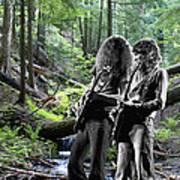 Allen And Steve On Mt. Spokane 2 Art Print