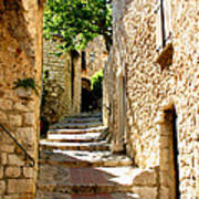 Alley In Eze, France Art Print