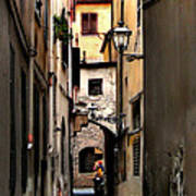 Alley In Florence 1 Art Print