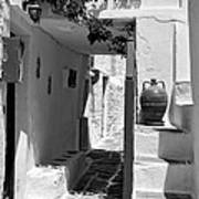 Alley In Kastro Village Art Print
