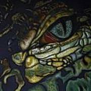 Alligator Eye Art Print