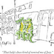Alligators Riding The Subway Art Print
