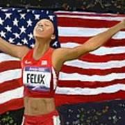 Allison Felix Olympian Gold Metalist Art Print