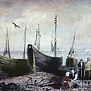 Allonby - Fishing Village 1840s Art Print