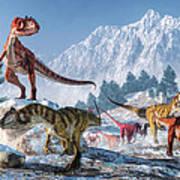 Allosaurus Pack Art Print