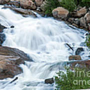 Alluvial Fan Falls On Roaring River In Rocky Mountain National Park Art Print