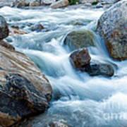 Alluvial Fan Falls On Roaring River Inrocky Mountain National Park Art Print