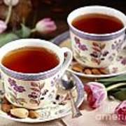 Almond Tea For Two Art Print