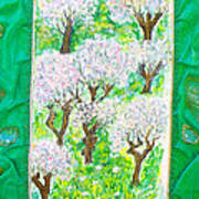 Almond Trees And Leaves Art Print