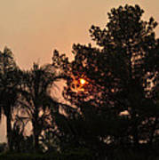 Almosts Gone Now Sunset In Smoky Sky Art Print