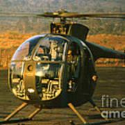 Aloha  Oh-6 Cayuse Light Observation   Helicopter Lz Oasis Vietnam 1968 Art Print