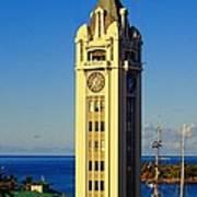 Aloha Tower Art Print