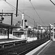 Alone In Railtracks Art Print