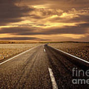 Alone Road Print by Boon Mee