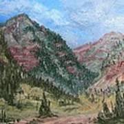 Along South Mineral Creek En Plein Air Art Print