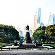 Along The Benjamin Franklin Parkway In Philadelphia Art Print