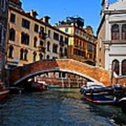 Along The Canals Of Venice Art Print