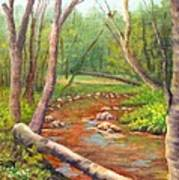 Along the Ellis River in Jackson Art Print