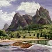Along The Li River Art Print