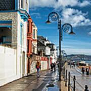 Along The Promenade - Lyme Regis Art Print