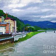 Along The Rhine Art Print