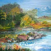 Along The Riverbank Art Print