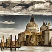 Along The Venice Canal Art Print