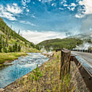 Along The Volcanic Yellowstone Road Art Print