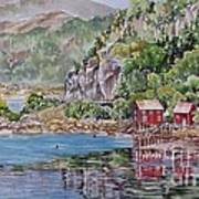 Along_the_coast_of_norway Art Print