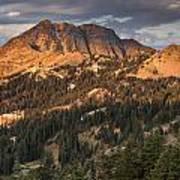 Alpenglow On Brokeoff Mountain Art Print