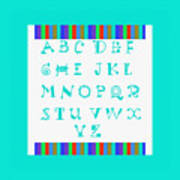 Alphabet Blue Art Print