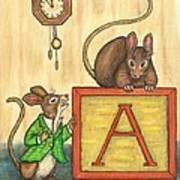 Alphabet Mice Art Print