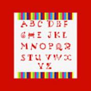 Alphabet Red Art Print