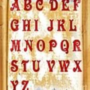 Alphabet With Scroll 2 Art Print