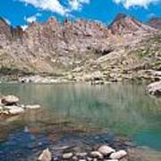 Alpine Lake Beneath Sunlight Peak Art Print
