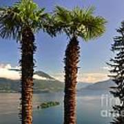 Alpine Lake With Island Art Print