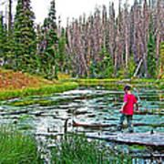 Alpine Pond On Alpine Pond Trail In Cedar Breaks National Monument-utah Art Print